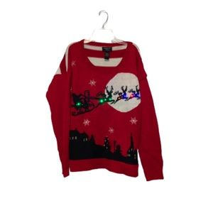 Light Up Christmas Sweater size L